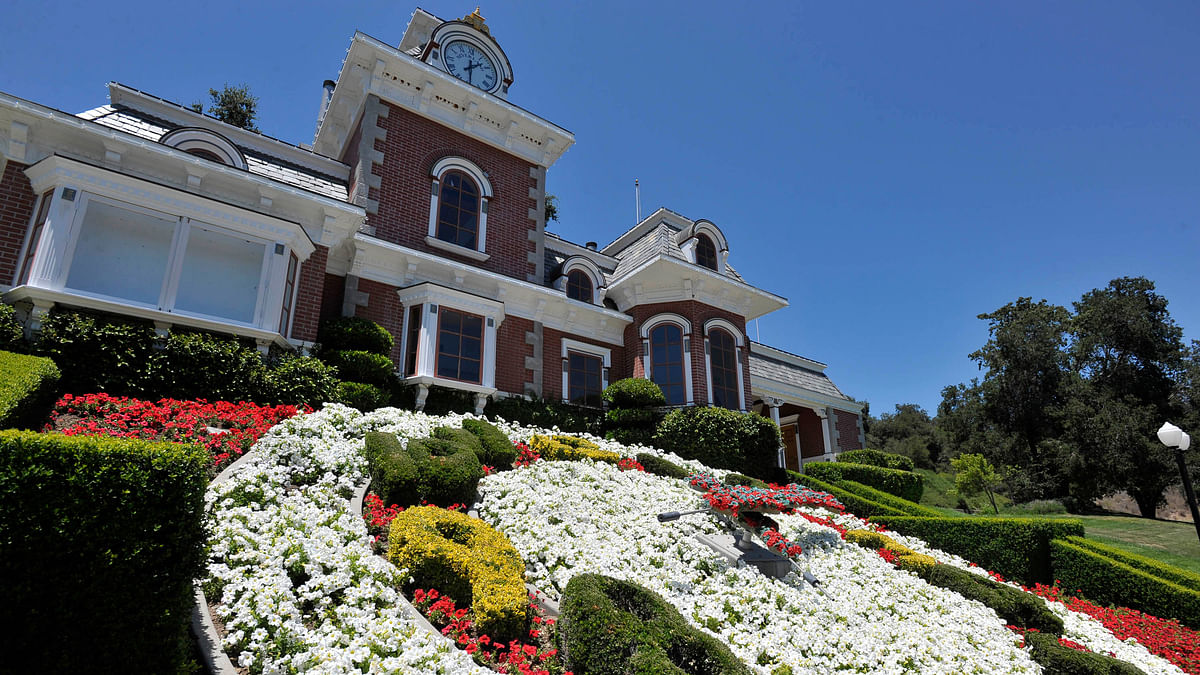 A general view of the train station at Michael Jackson's Neverland Ranch. (Photo: Reuters)