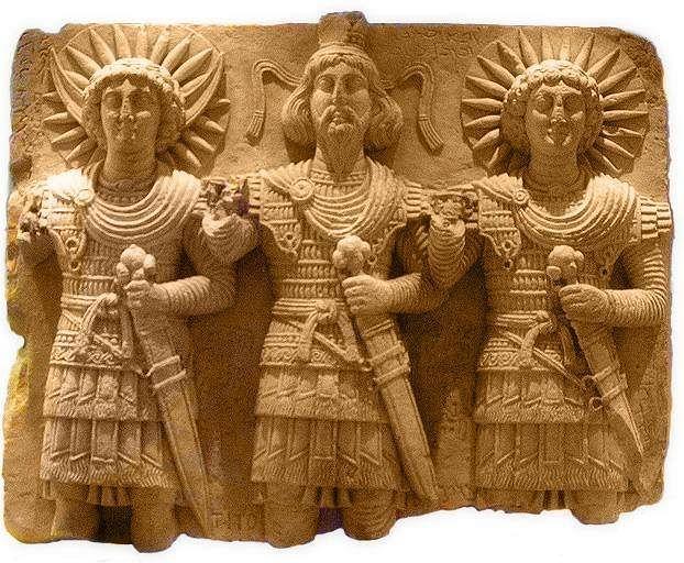 Statue of the three Gods.