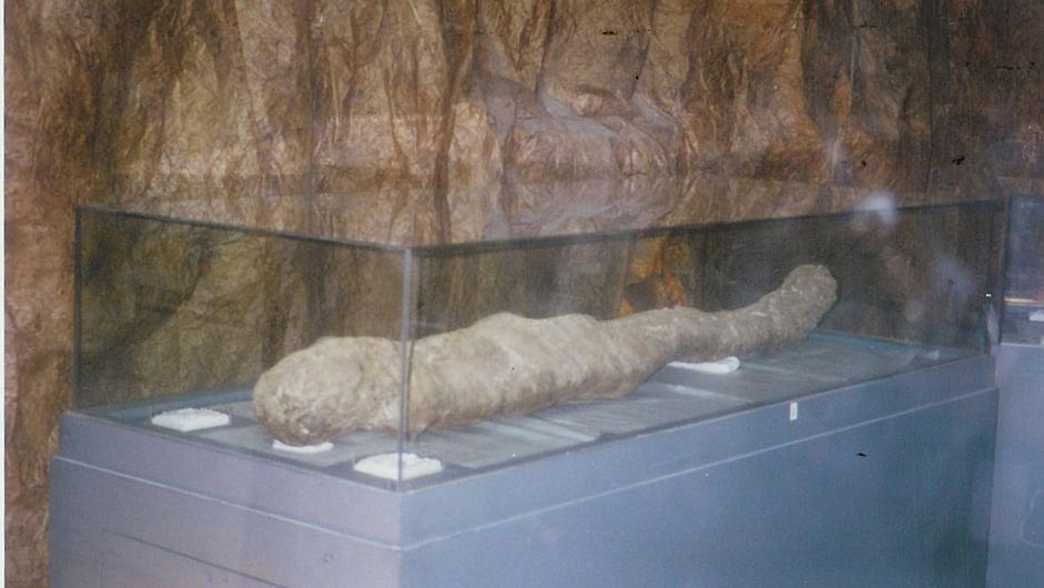 One of the mummies. (Photo: Waeil Awwad)