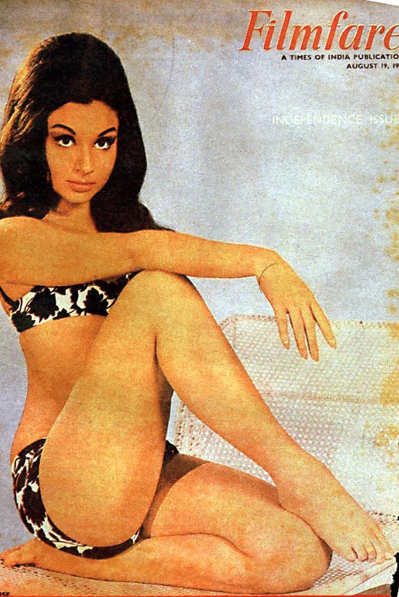 Bikini clad Sharmila Tagore for Filmfare cover