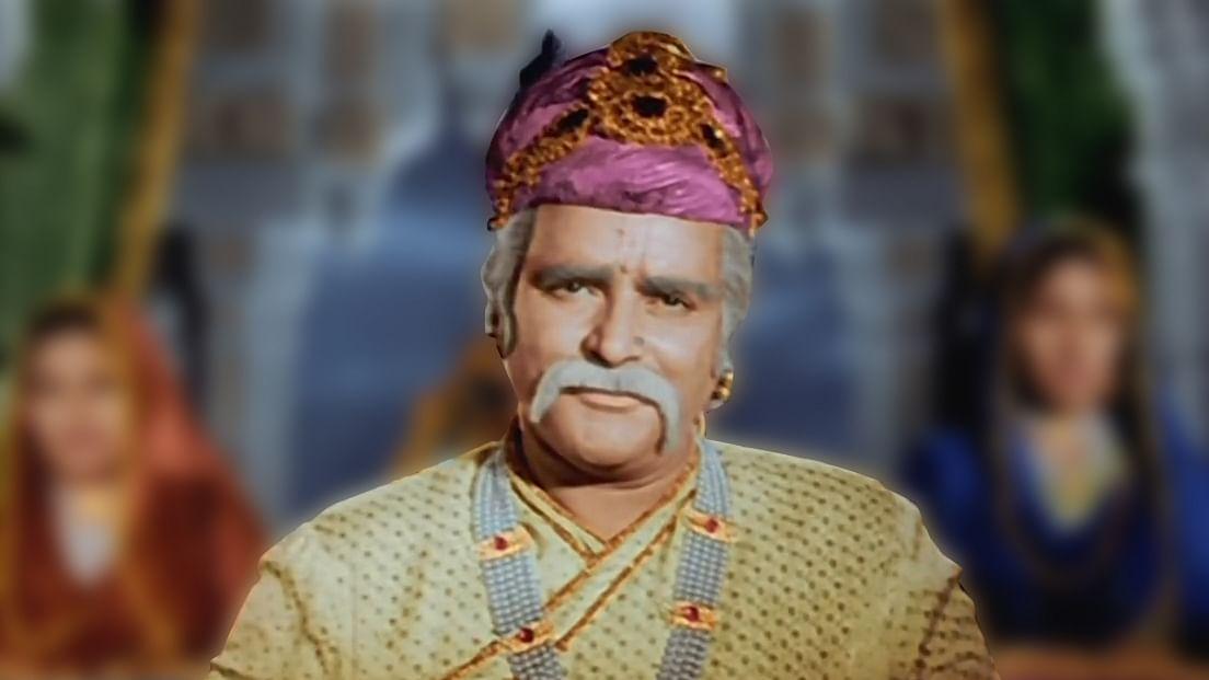 Prithviraj Kapoor in <i>Mughal e Azam</i>.