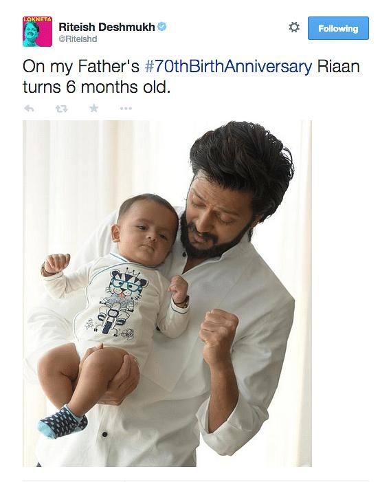 "(Photo: <a href=""https://twitter.com/Riteishd"">Twitter/Riteishd</a>)"