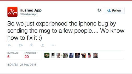 Screenshot of one such Tweet.