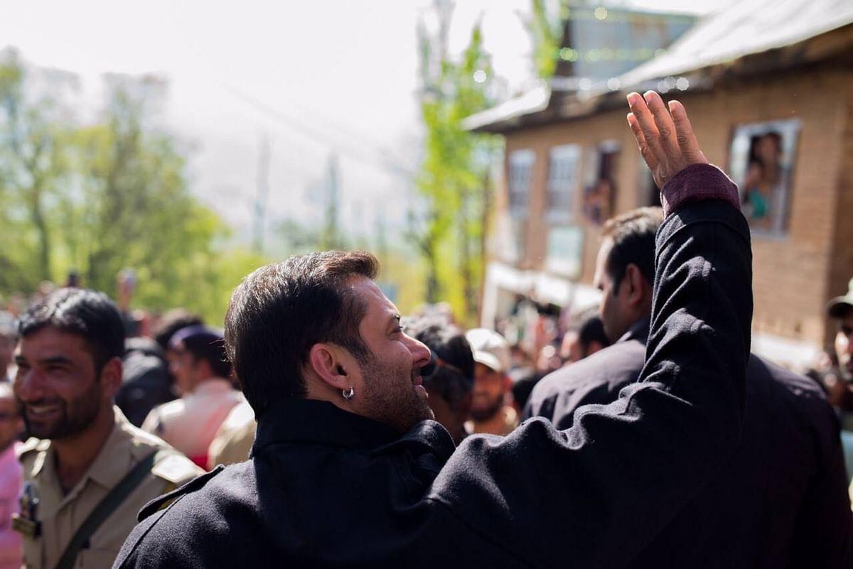 """Actor Salman Khan in Kashmir. (Courtesy: <a href=""""https://www.facebook.com/BeingSalmanKhan?fref=photo"""">Facebook/Salman Khan</a>)"""