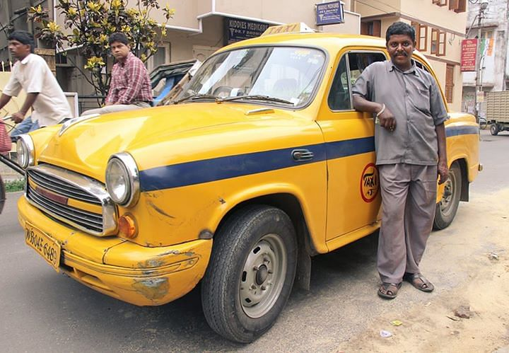 """This is how the Taxi looked before it underwent the transformation to become a miniature mobile garden. (Photo Courtesy: Facebook.com/<a href=""""https://www.facebook.com/profile.php?id=100008750044564"""">Bapi Green Taxi</a>)"""
