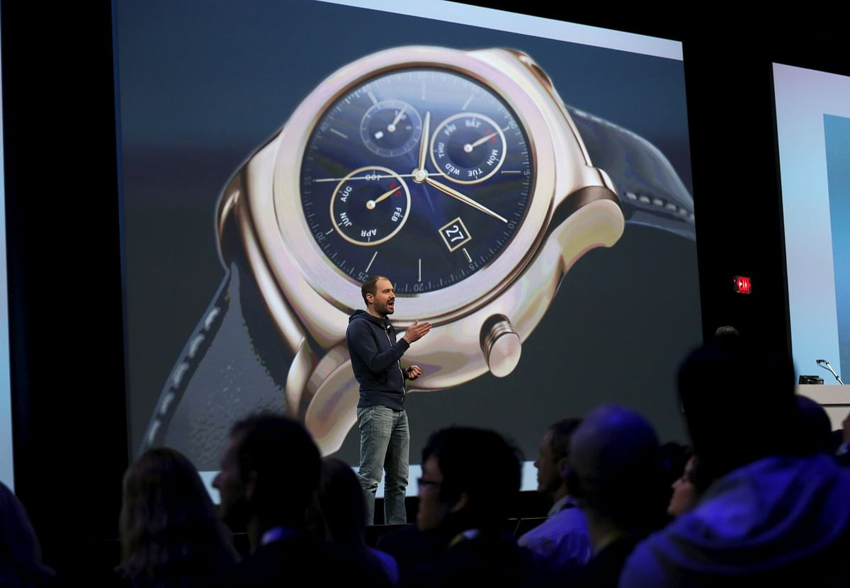 David Singleton, Director of Android Wear, speaks during the Google I/O developers conference in San Francisco, California. (Photo: Reuters)