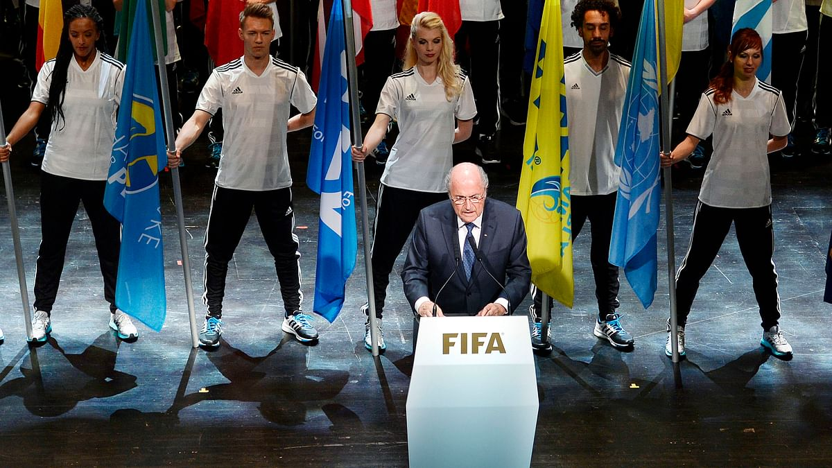 FIFA President Sepp Blatter speaks at the opening ceremony of the FIFA congress in Zurich, Switzerland onThursday, May 28. (Photo: AP)