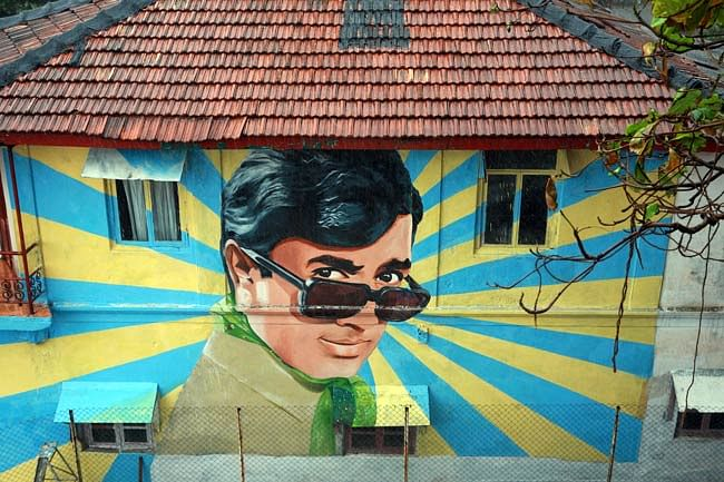 Bright and finished! Dahiya's Rajesh Khanna transformed a dull house into a lively tribute. (Photo: Facebook/Bollywood Art Project)