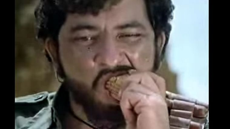 The Gabbar Britannia biscuits television commercial featuring Amjad Khan. (Photo: Screengrab from the ad)