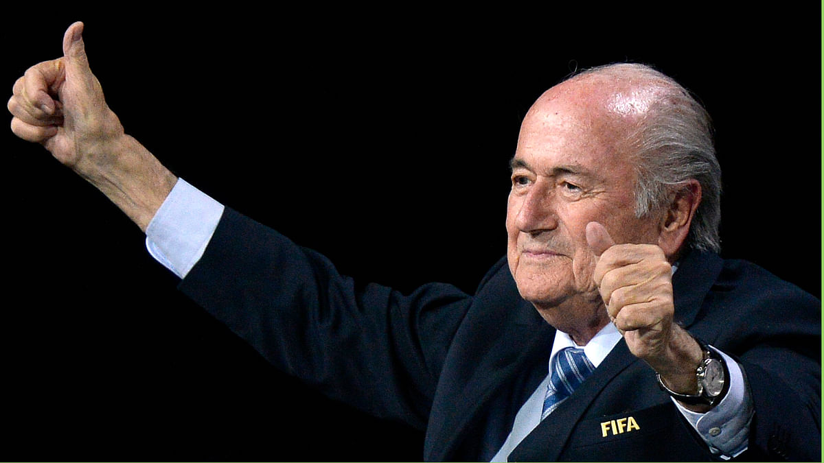 Sepp Blatter was re-elected to a fifth term as FIFA President on Friday. (Photo: AP)