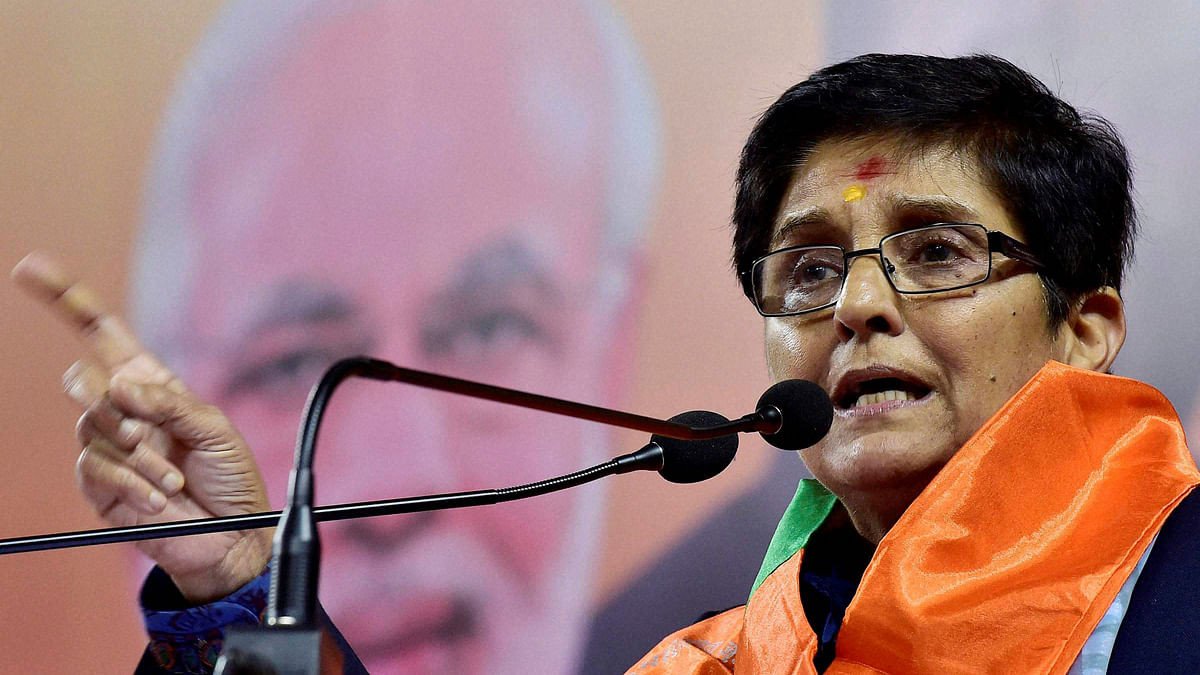 File photo of former IPS officer and BJP leader Kiran Bedi. (Photo: PTI)