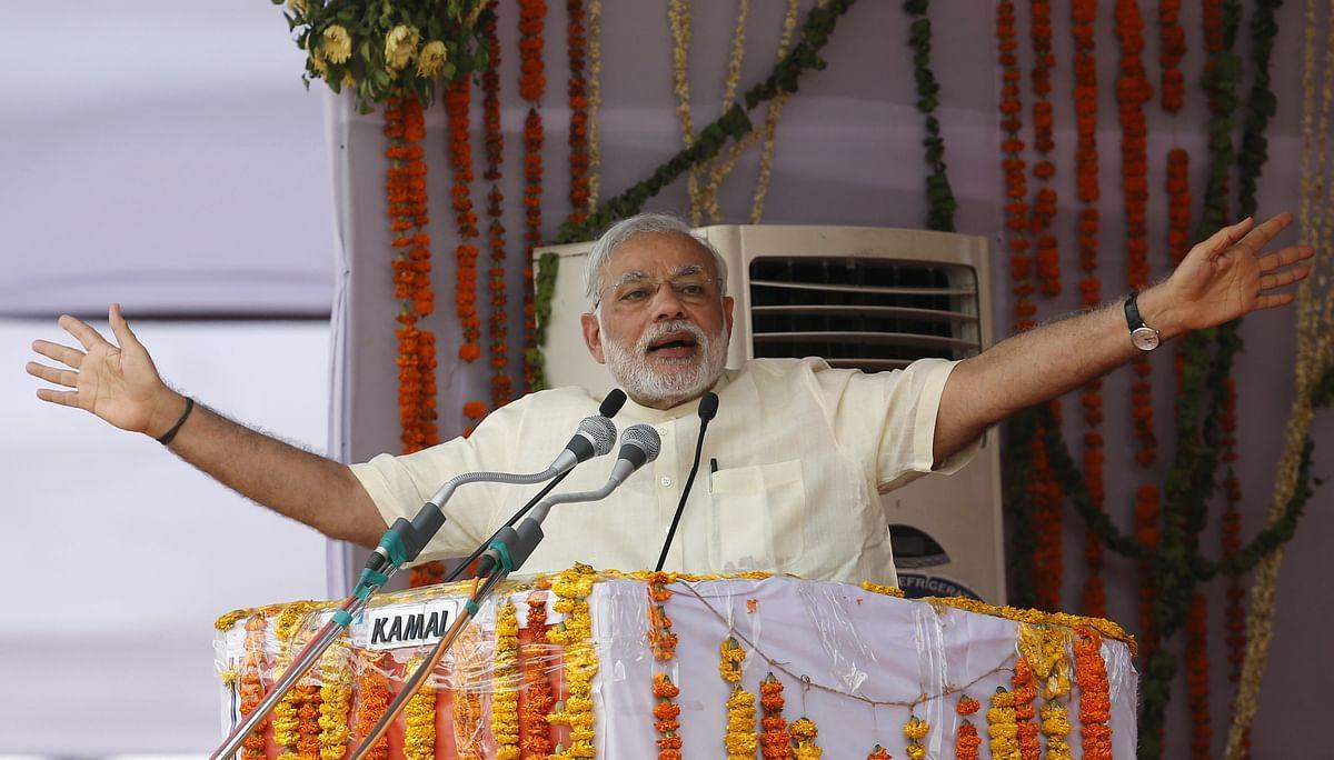 PM Narendra Modi at a rally in Mathura (Photo: Reuters)