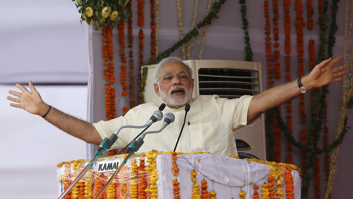 File Image of PM Narendra Modi at a rally in Mathura.