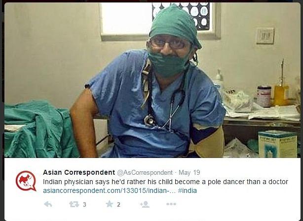 Screenshot of tweet put out byAsian Correspondent.