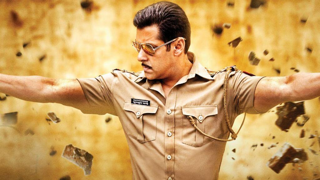 Salman Khan in <i>Dabangg. </i>(Photo Courtesy: Dabangg Flim Poster)