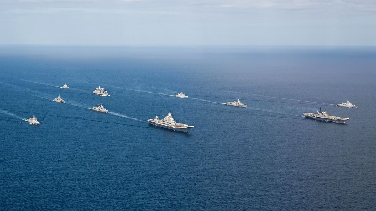 """Indian Navy ships at sea. Representational image. (Photo courtesy: <a href=""""http://www.indiannavy.nic.in/"""">Indian Navy</a>)"""