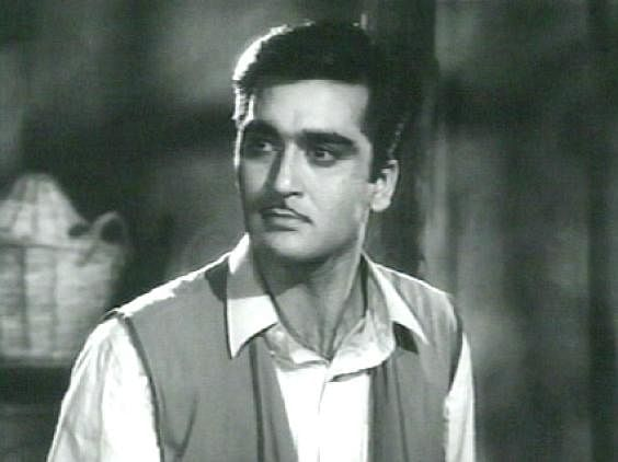 Sunil Dutt in a scene from one of his early films.