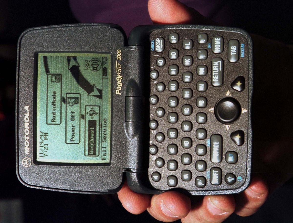 A two way pager wasa device that allowed wireless communication from 1997 onwards. (Photo: Reuters)