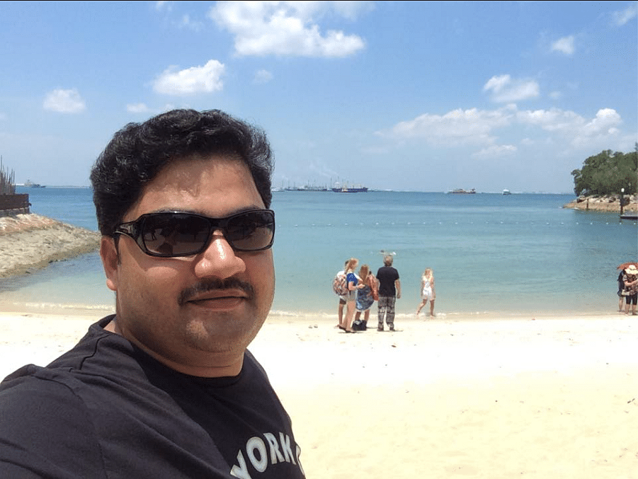 """Manjunath is a father to a 5-year-old son and is working in Public Relations (Photo Courtesy: <a href=""""https://www.facebook.com/mastermanjunath"""">Facebook/Manjunath Nayaker</a>)"""