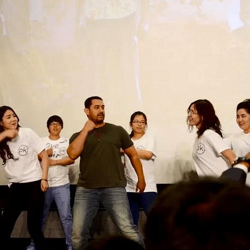 "Aamir Khan promotes <i>PK </i>in China (Photo: <a href=""https://twitter.com/iamkunalmshah"">Twitter/iamkunalmshah</a>)"
