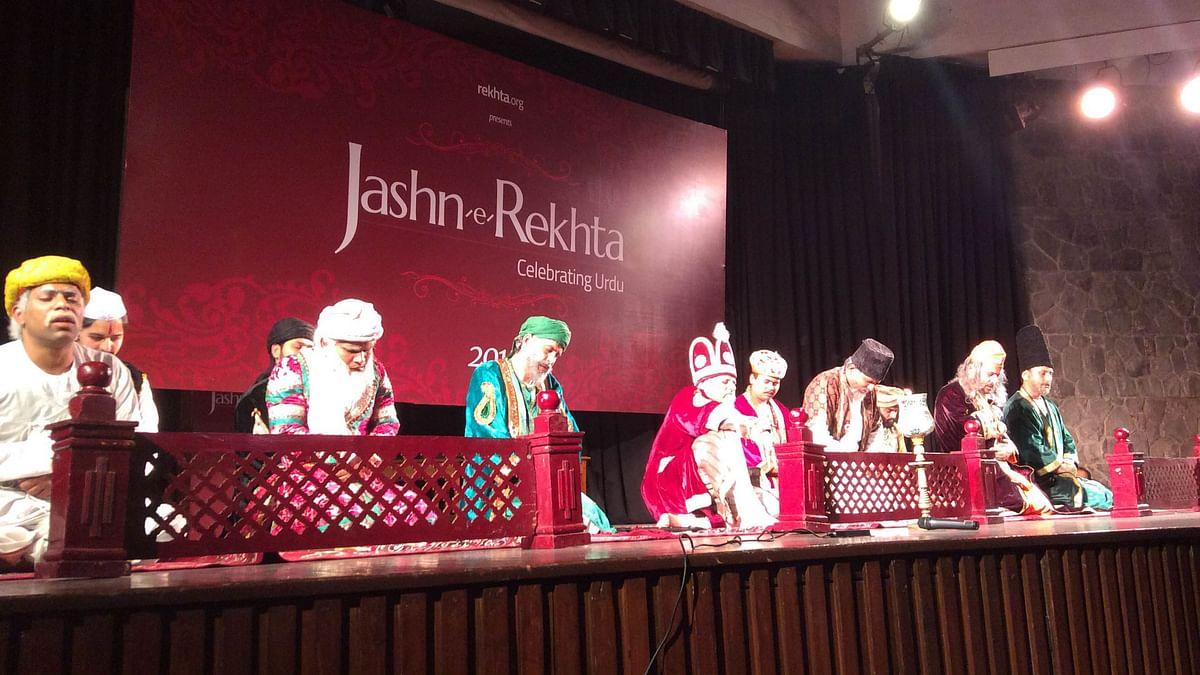 <i>Lal Qile ka Mushiara</i> being staged at an Urdu festival in Delhi. (Photo: Shambhavi Prakash)