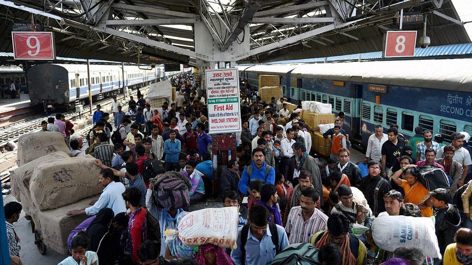 File photo of a busy railway station. (Photo: PTI)