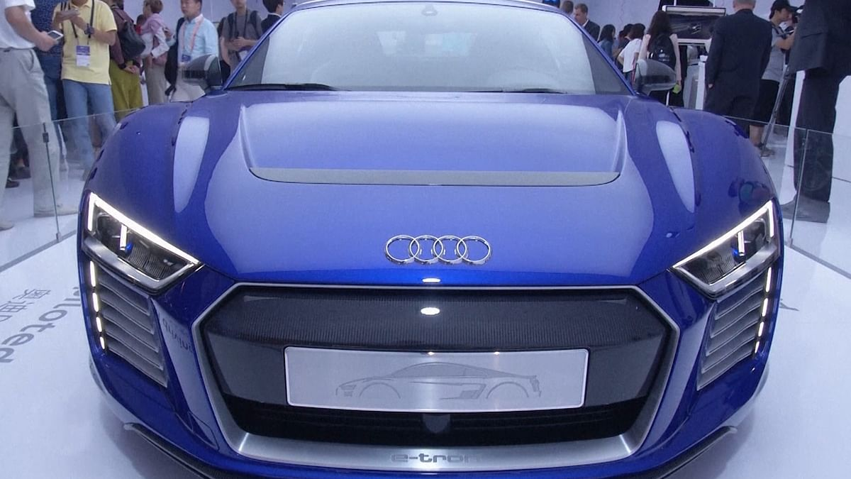 Audi R8 e-tron unveiled in Shanghai. (Photo:AP video grab)