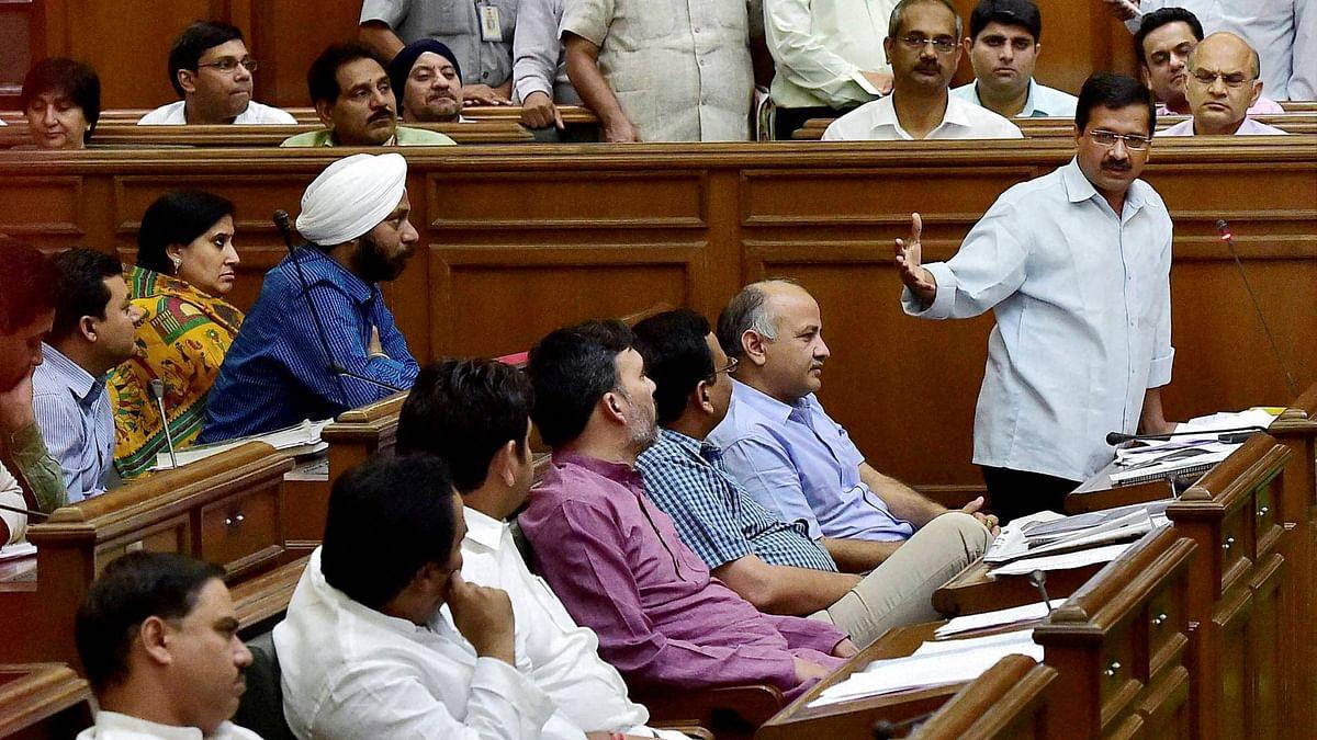 Delhi CM Arvind Kejriwal in Delhi Assembly. (Photo: PTI)
