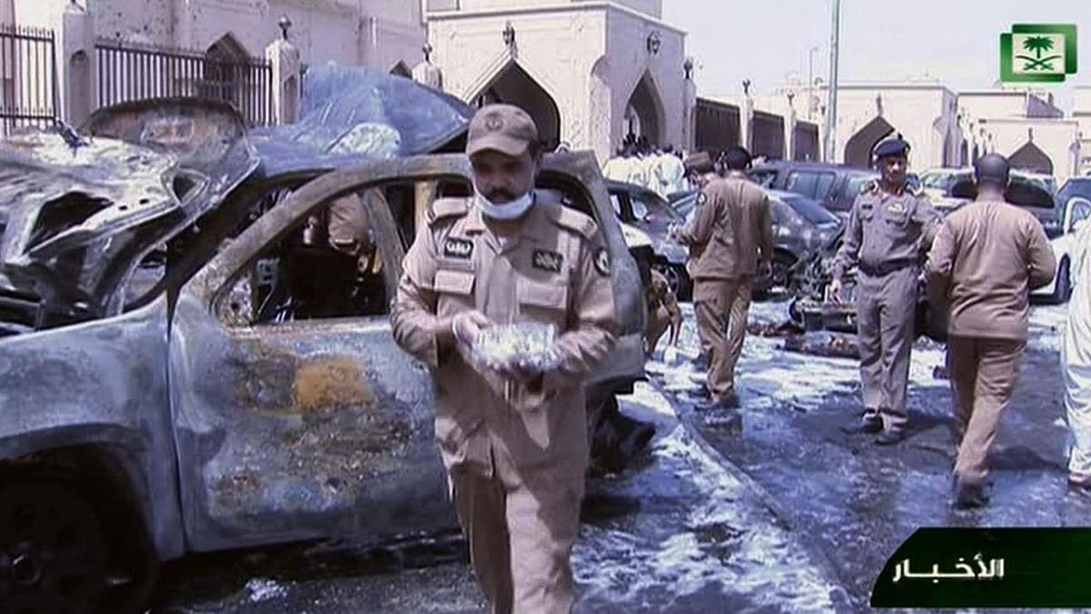 Still image taken from Saudi TV. (Photo: AP)