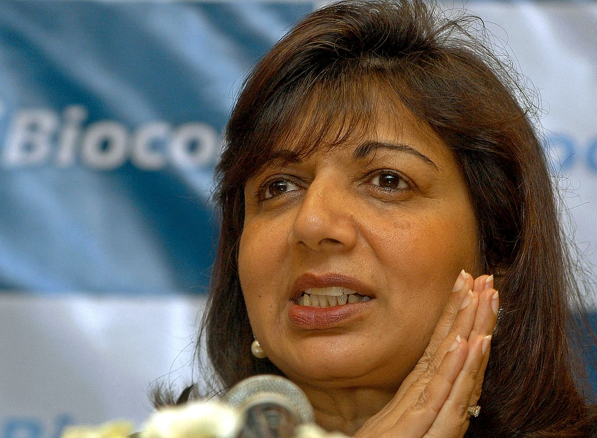 Biocon founder Kiran Mazumdar-Shaw is on the 85th spot on the Forbes List. (Phot: Reuters)<!--EndFragment-->