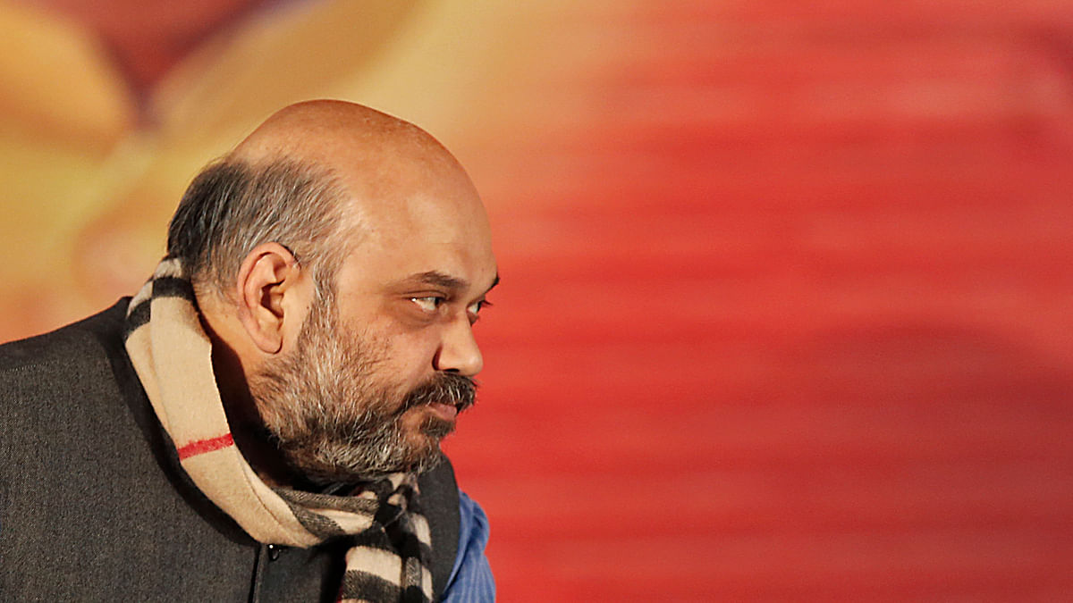 BJP President Amit Shah has ensured that the decision to rebuild Ram Mandir will be implementedat the right time. (Photo: PTI)