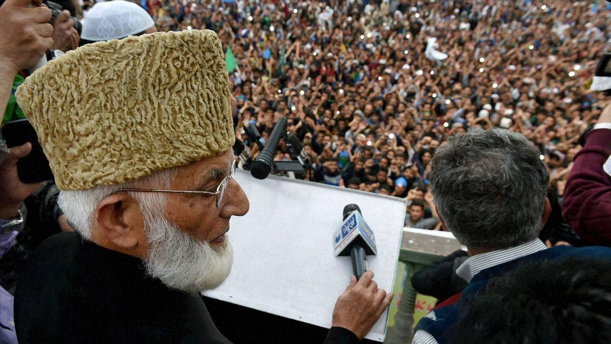Separatist leader Syed Ali Shah Geelani at a rally. (Photo: PTI)