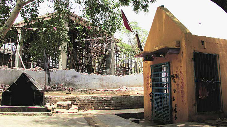 The construction of the mosque had resumed this month, nearly five years after it was stopped. (Courtesy: TheIndian Express)