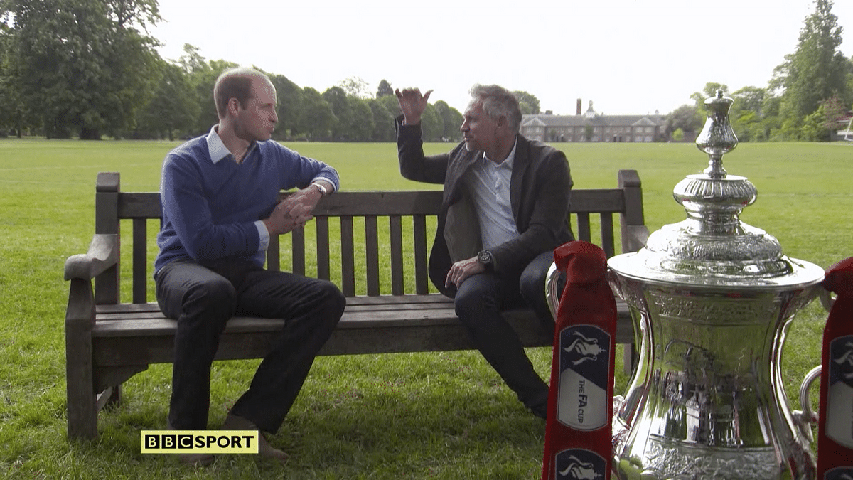 Prince William is also the President of England's Football Association.