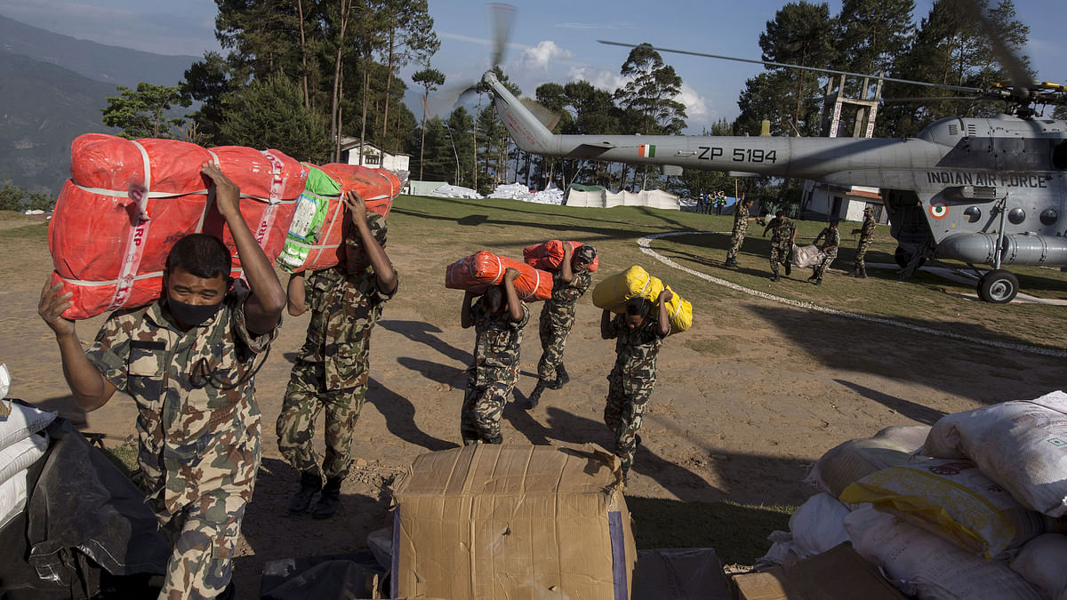 Relief from India to Nepal. (Photo: Reuters)