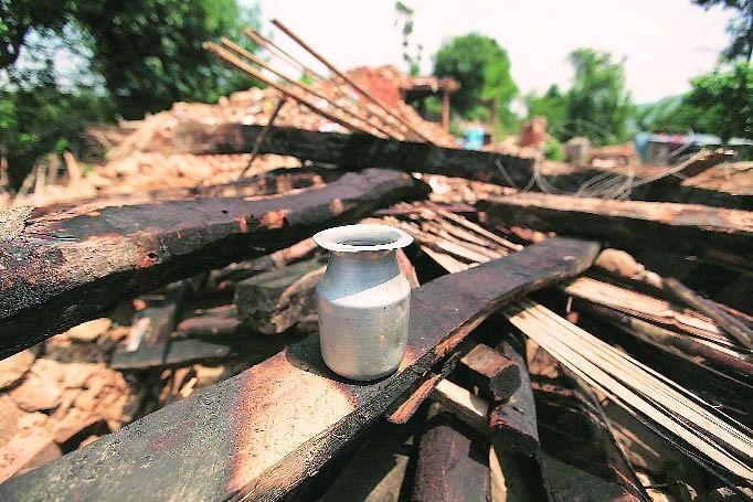 The jar that Santa Maya Tamang used to carry. (Courtesy: The Indian Express)
