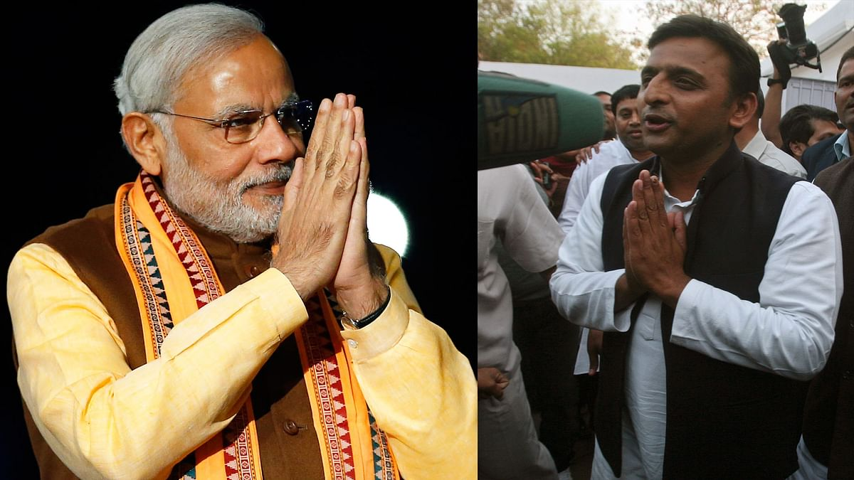 Prime Minister Modi found unexpected support from UP Chief Minister Akhilesh Yadav (Photo: Reuters)