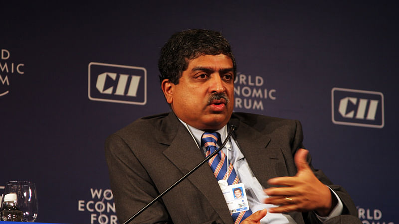 """Infosys Co-founder and former Aadhar Chairman Nandan Nilekani. (Courtesy: The News Minute/ <a href=""""https://commons.wikimedia.org/wiki/Main_Page"""">Wikimedia Commons</a>)"""