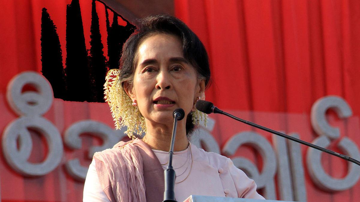 Myanmar's opposition leader Aung San Suu Kyi.