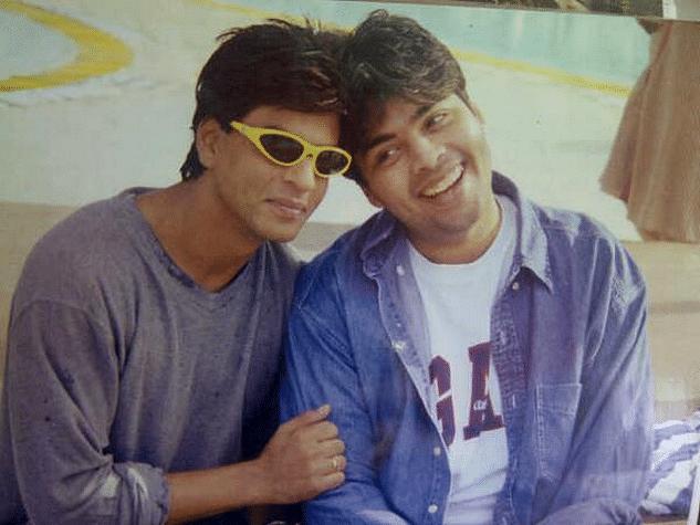 """Shah Rukh and Karan Johar&nbsp;on sets of Kuch Kuch Hota Hai (Photo: <a href=""""https://twitter.com/karanjohar/media"""">Twitter/@karanjohar</a>)"""