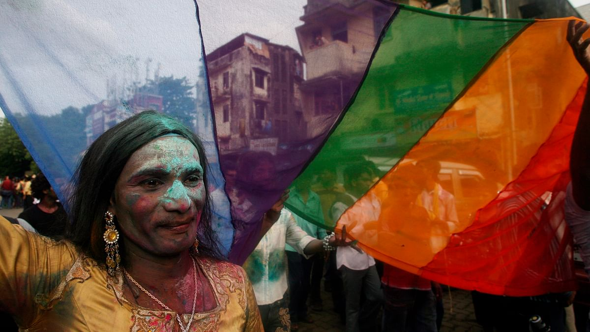 A transgender attends a rally in Mumbai. (Photo: Reuters)