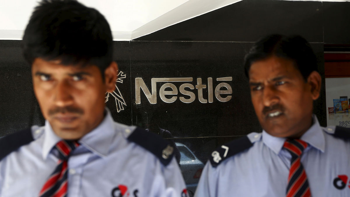 File photo of security guards outside the Nestle office in New Delhi. (Photo: Reuters)