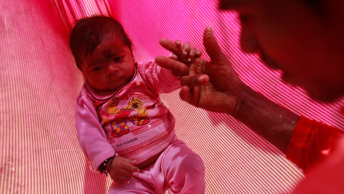 A newly born infant in a village of India. Male birth is still celebrated more. (Photo: Reuters)