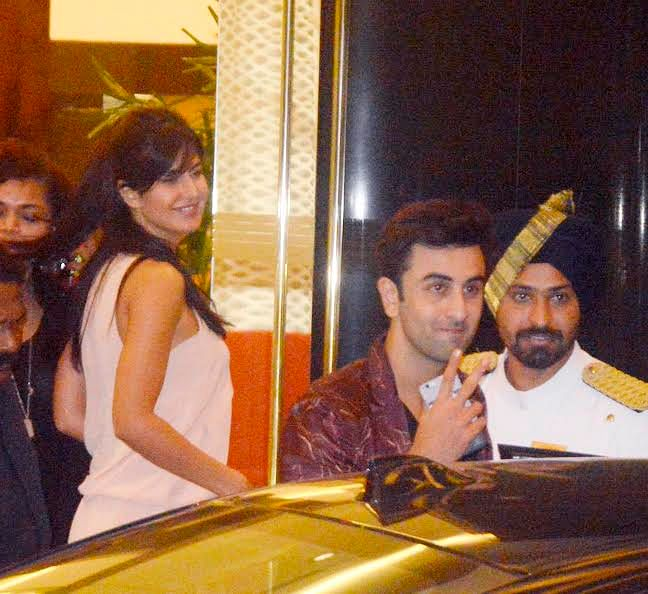 Katrina and Ranbir spotted at Arjun Kapoor's birthday bash (Photo: Yogen Shah)