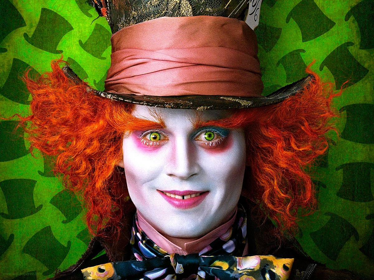 Depp's The Mad Hatter look