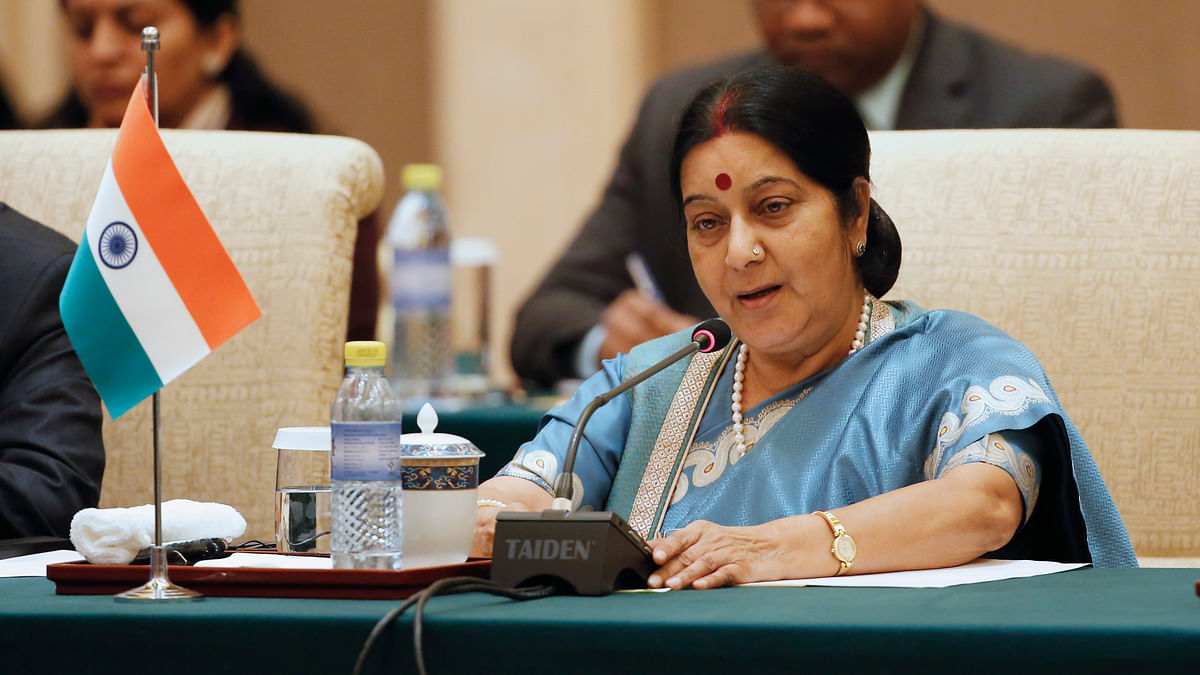 Indian Foreign Minister Sushma Swaraj. (Photo: Reuters)