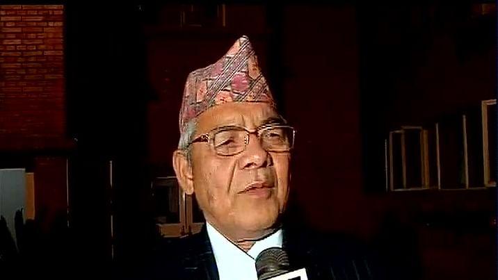 "Bamdev Gautam, Deputy Prime Minister, Home Minister, Nepal and acting President, CPN-UML. (Photo: <a href=""https://twitter.com/ANI_news/status/593053267044663296"">Twitter.com/@ANI_news</a>)"