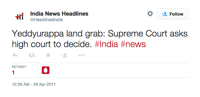 "(Photo: <a href=""https://twitter.com/HeadlinesIndia/status/63869985562431488"">Twitter.com/@HeadlinesIndia</a>)"