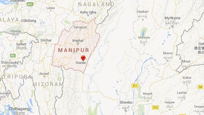 "A screenshot of Chandel where the attack took place (Source: <a href=""https://www.google.co.in/maps/place/Chandel,+Manipur/@24.2368356,94.0713346,10z/data=!3m1!4b1!4m2!3m1!1s0x37495d62a577f333:0xaa0f379de17ff5b8?hl=en"">Google Maps</a>)"