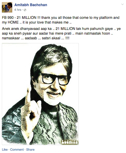 "(Picture Courtesy: <a href=""https://www.facebook.com/AmitabhBachchan?fref=ts"">Facebook.com/Amitabh Bachchan</a>)"